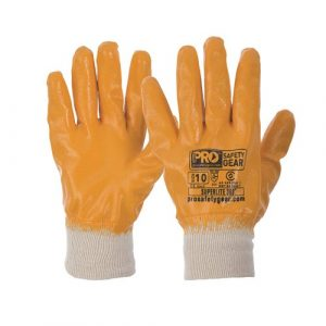 PRO CHOICE NBRFBY SUPER-LITE ORANGE FULLY DIPPED GLOVES 12 PAIRS