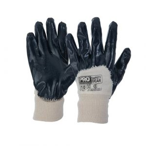 PRO CHOICE NBRHB SUPER-GUARD BLUE 3/4 DIPPED GLOVES 12 PAIRS
