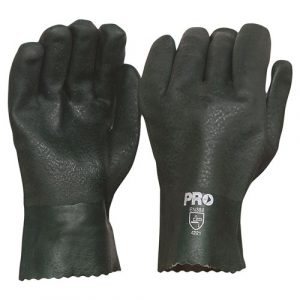 PRO CHOICE PVC27DD 27CM GREEN DOUBLE DIPPED PVC GLOVES LARGE 12 PAIRS