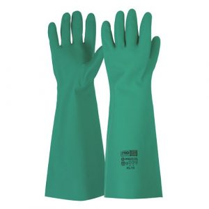PRO CHOICE RNU22 45CM GREEN NITRILE GAUNTLET GLOVES