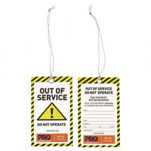 PRO CHOICE STC12575 SAFETY TAG -125MM X 75MM CAUTION 100PK