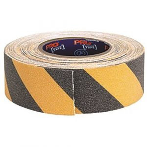 PRO CHOICE YB1850-NS SELF ADHESIVE NON SLIP HAZARD TAPE YELLOW & BLACK. 18M X 50MM