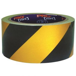 PRO CHOICE YB3075-SA SELF ADHESIVE HAZARD TAPE YELLOW & BLACK. 30M X 75MM