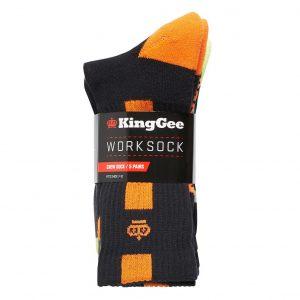 KingGee K09035 Men's Crew 5 Pack Work Socks