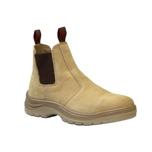King Gee K25180 Safety Flinders Gusset Sand Suede