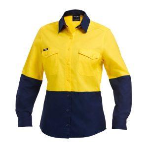 KingGee K44543 Workcool 2 Women's Spliced Shirt L/S