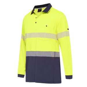 KingGee K54225 Workcool Hyperfreeze Spliced Polo L/S with Segmented Tape
