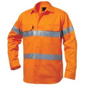 KingGee K54250 Reflective Drill Shirt L/S
