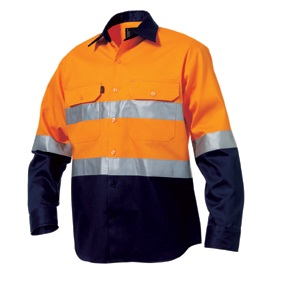 KingGee K5431G Reflective Spliced Drill Shirt L/S