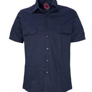 Ritemate RM1000SBO Open front short sleeve shirt