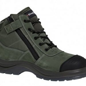 King Gee K27110 Tradie Safety Boot Zip Khaki