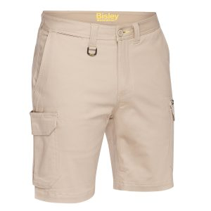 BISLEY BSHC1008 MENS STRETCH COTTON CARGO SHORT