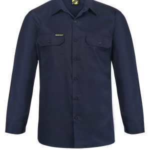 Workcraft WS4011 Lightweight Long Sleeve Vented Cotton Drill Shirt