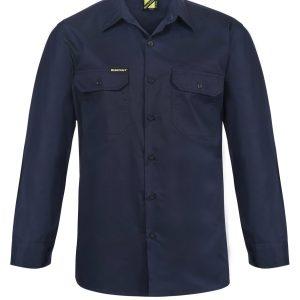 Workcraft WS4011 Lightweight L/S Vented Cotton Drill Shirt