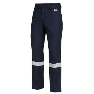 HARD YAKKA Y02425 SHIELDTEC FR FLAT FRONT PANT WITH TAPE