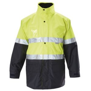 HARD YAKKA Y06556 FOUNDATIONS HI-VISIBILITY 6 IN 1 TWO TONE JACKET WITH TAPE