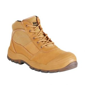 HARD YAKKA Y60120 Utility Zip Safety Boot Wheat