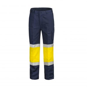 Workcraft WP3066 Modern Fit Cotton Drill Cargo Trouser with Contrast Knee and CSR Reflective Tape