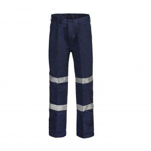 Workcraft WP4006 Classic Single Pleat Cotton Drill Trouser with CSR Reflective Tape