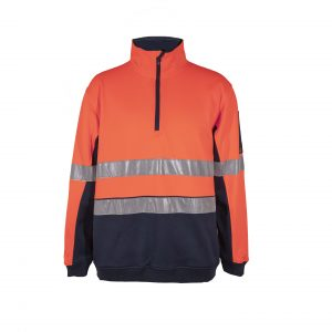 Workcraft WT8013 Ridge Hi-Vis 1/2 Zip Pullover with CSR Tape