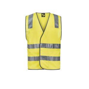 Workcraft WV7001 Unisex Hi Vis Safety Vest with Shoulder Pattern