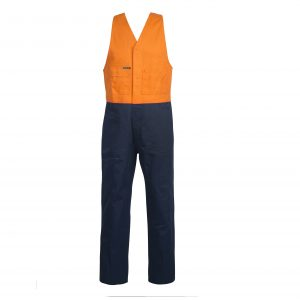 Workcraft WR3063 Two Tone Cotton Drill Roughall with Elastic Straps