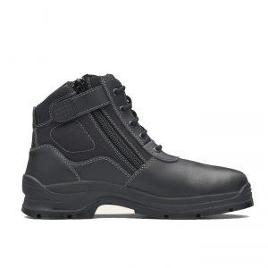 BLUNDSTONE 419 UNISEX ZIP UP NON SAFETY WORK BOOTS - BLACK