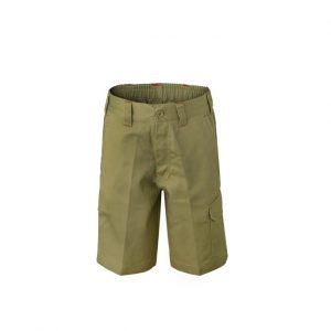 Workcraft WPK502 Kids Midweight Cargo Cotton Drill Shorts