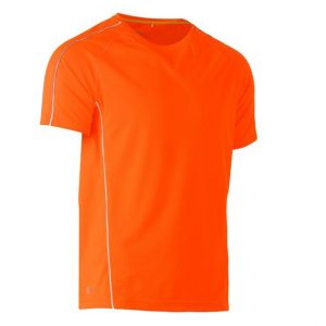 BISLEY BK1426 COOL MESH TEE WITH REFLECTIVE PIPING