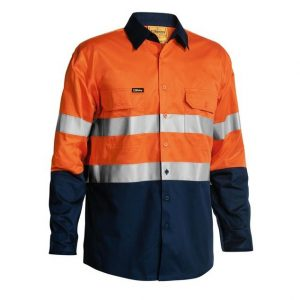 BISLEY BS68964P TAPED HI VIS COOL LIGHTWEIGHT SHIRT 4X PACK