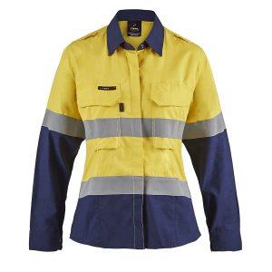Flamebuster FSL016 Torrent HRC2 Ladies Hi Vis Two Tone Open Front Shirt