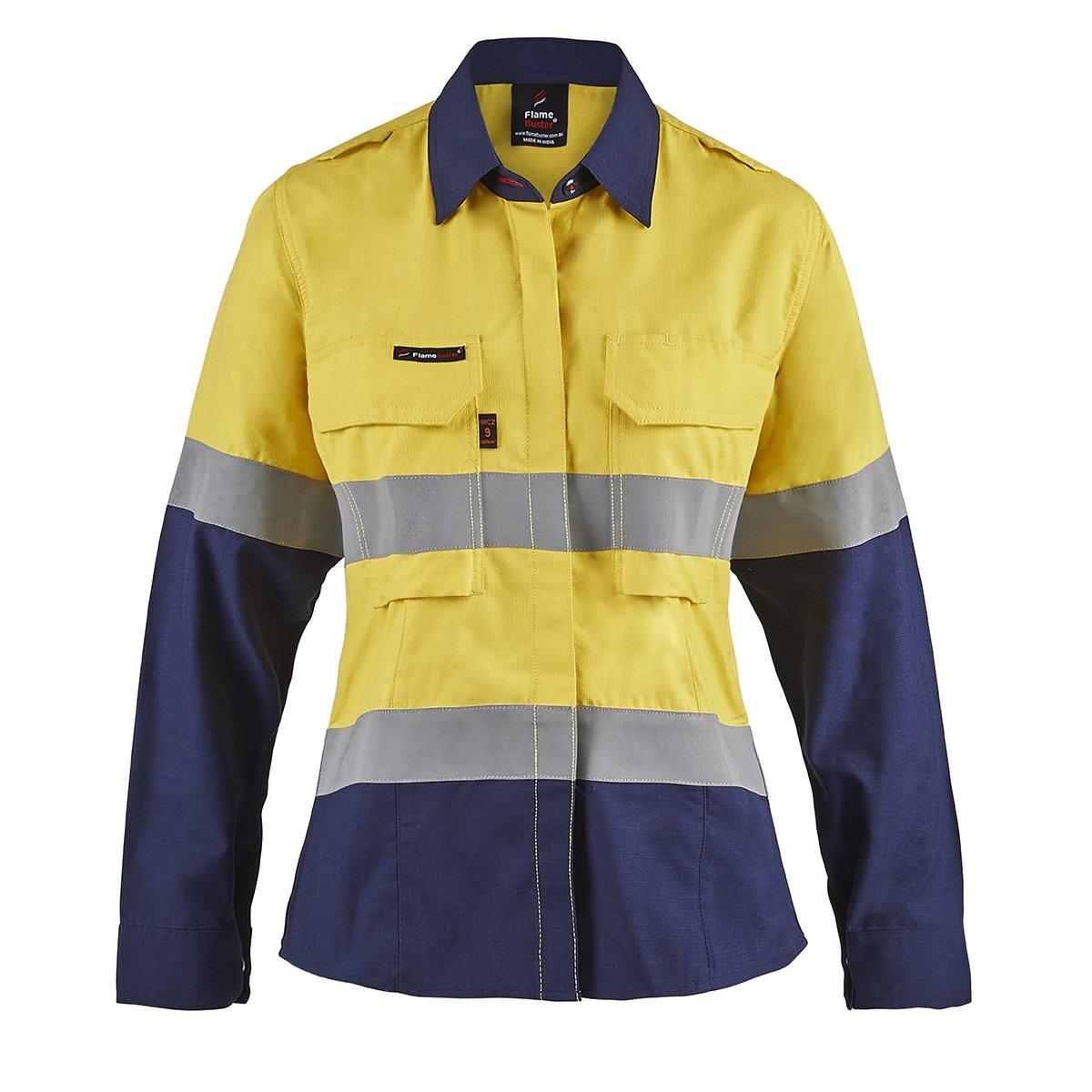 FSL016_shirt_yellow-navy_front