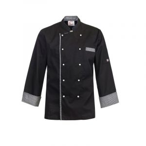 Chefscraft CJ044 Executive Chefs Lightweight Vented Jacket with Checked Detail- L/S