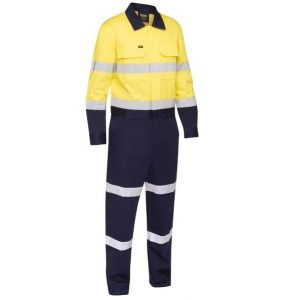 Bisley BC6066T Taped Hi Vis Work Coverall with Waist Zip Opening