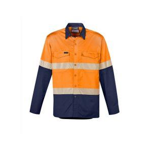 Syzmik ZW229 Mens Rugged Cooling Hi Vis Segmented Tape L/S Shirt