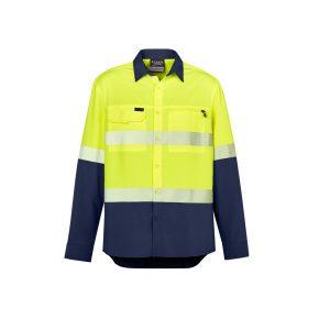 Syzmik ZW470 Mens Hi Vis Outdoor Segmented Tape L/S Shirt