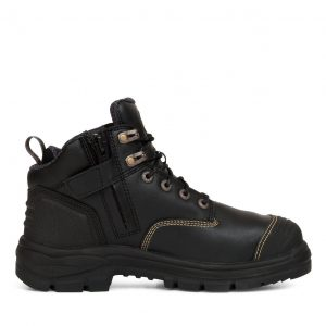 OLIVER 55-340Z 130MM BLACK ZIP SIDED HIKER SAFETY BOOT