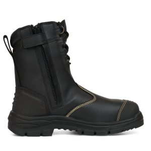 OLIVER 55-380 200MM HI-LEG BLACK ZIP SIDED SAFETY BOOT