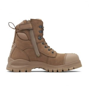 Blundstone 984 Heavy Duty Zip Sided Water-Resistant Stone Nubuck Safety Boot