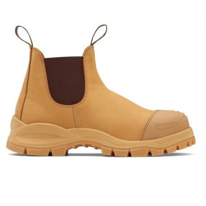Blundstone 989 Industrial Water-Resistant Wheat Nubuck Safety Boot