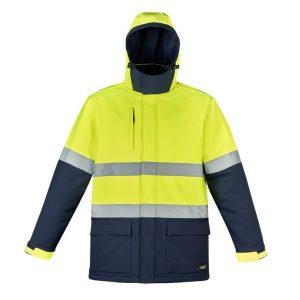 Syzmik ZJ553 Unisex Hi Vis Antarctic Softshell Taped Jacket
