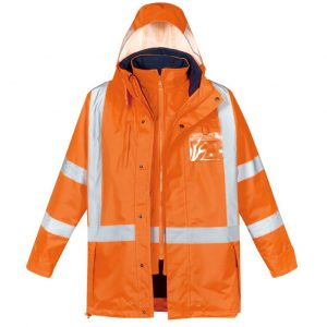 Syzmik ZJ616 Mens Hi Vis X Back Taped 4 in 1 Waterproof Jacket