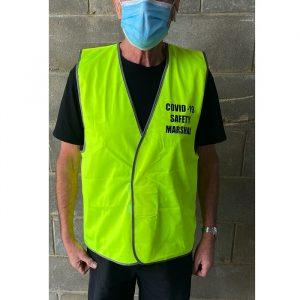 Workcraft WV7000CM Covid-19 Marshall Unisex Hi Vis Safety Vest