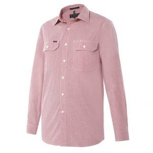 Pilbara RMPC063 Mens Y/D Check Dual Pocket L/S Shirt