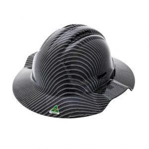 FORCE360 HPFPRBB57R-HD1 Hydro Dipped Broad Brim Hard Hat - Type 1 Carbon Fibre