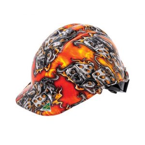 FORCE360 HPFPR57R-HD3 Hydro Dipped Hard Hat - Type 1 Flaming Dice