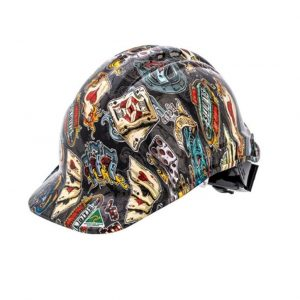 FORCE360 HPFPR57R-HD2 Hydro Dipped Hard Hat - Type 1 The Gambler