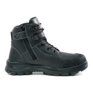 BISON TOR LACE UP SAFETY BOOT WITH ZIP BLACK
