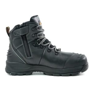 BISON XT ANKLE LACE UP BOOT WITH ZIP BLACK